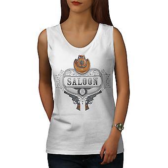 サルーン アメリカ西部女性 WhiteTank トップ  Wellcoda