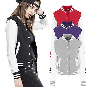 Urban classics ladies - College baseball fleece sweat jacket