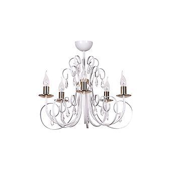 Emibig világítás művárosi fehér csillár 5 kar os lámpatest