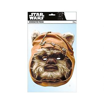 Wicket the Ewok Official Star Wars Single Card 2D Party Fancy Dress Mask