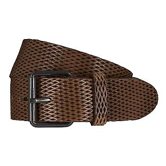 Strellson belts men's belts leather belt olive/green 5925