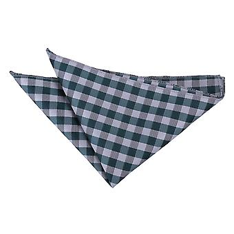 Turquoise Gingham Check  Pocket Square