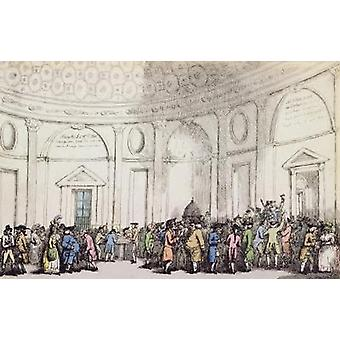 The Bank, 1792 (etching) by Thomas Rowlandson - Art Print