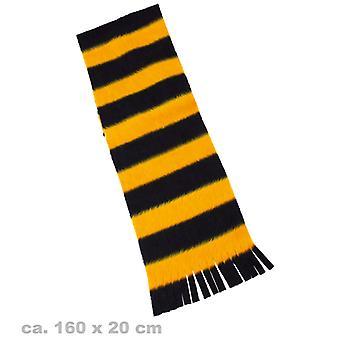 Plüschschal Biene Bienenschal gelb-schwarz Schal