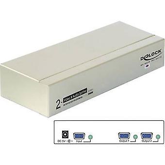 DeLOCK 87654 2 poorten VGA splitter 2048 x 1536 p grijs