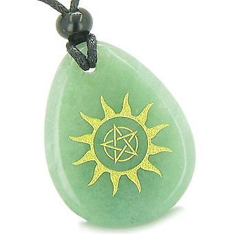 Amulett Stern Pentagramm Sonnenenergie Zauberkräften Glück Aventurin Totem Anhänger Halskette