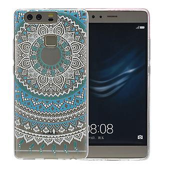 Henna cover voor Huawei P10 plus siliconen case beschermhoes zon blauw