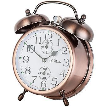 nostalgic alarm clock copper mechanical double Bell alarm clock