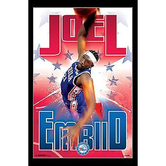 Philadelphia 76ers - J Embiid 17 Poster Print
