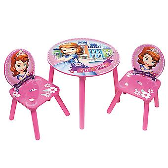 Disney Sofia Princess tabel Set + 2 houten stoelen