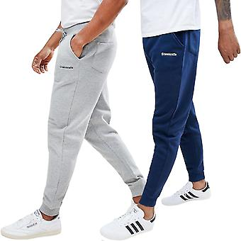Lambretta Mens Slim Fit Full Length Casual Jogger bodems Jogging broek broek