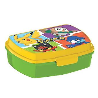 Pokemon lunch Box Green/Yellow