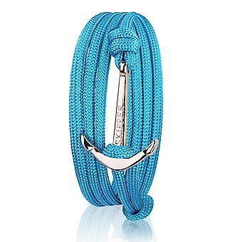 Skipper anchor bracelet bracelet nylon in turquoise with gold anchor 7729