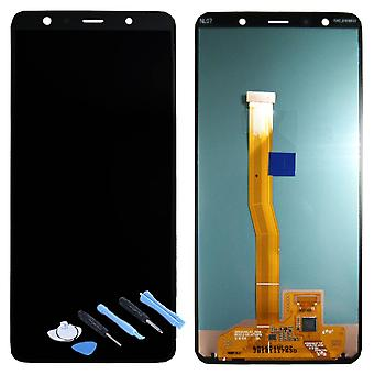 Samsung display LCD complete unit for Galaxy A7 A750F 2018 GH96 12078A black