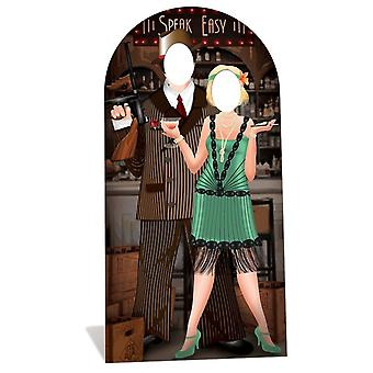 Rugindo 1920 Speakeasy Stand-in Lifesize Cardboard Cutout / Standee - Gangsters and Molls