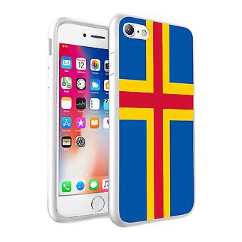 For Samsung Galaxy S9 - Aland Island Flag Design Printed White Case Skin Cover - 0202 by i-Tronixs