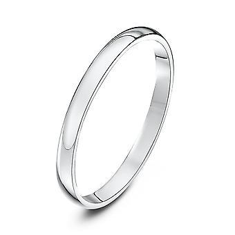 Star Wedding Rings Platinum Light D 2mm Wedding Ring