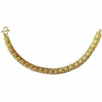 フラワー デザインのゴールド ブレスレット非常に美しいゴールド メッキ ブレスレット