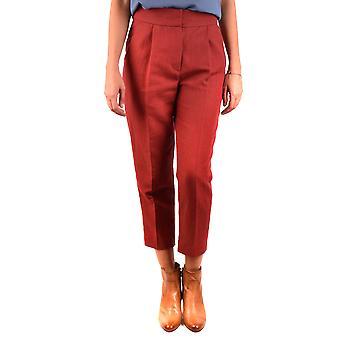 Brunello Cucinelli Ezbc002052 Women's Red Cotton Pants
