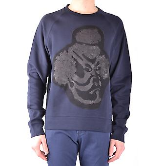 Paolo Pecora Ezbc059017 Men's Blue Cotton Sweatshirt