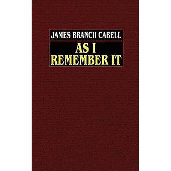 Wie ich es von Cabell & James Branch