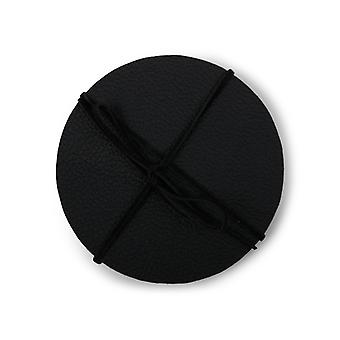 Coasters Cuero negro 4-pack