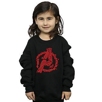 Marvel Mädchen Avengers Endspiel zerstörten Logo Sweatshirt