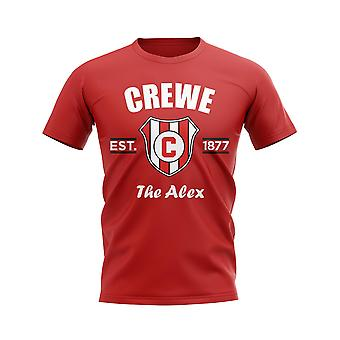 Crewe stabilito calcio t-shirt (Red)