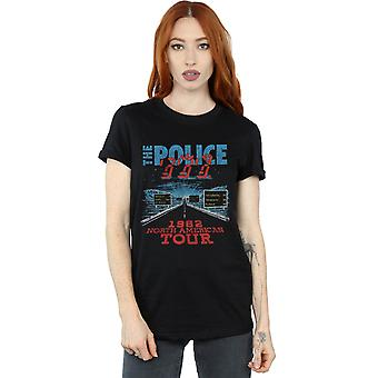 The Police Women's North American Tour V2 Boyfriend Fit T-Shirt