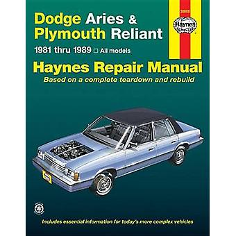 Dodge Aries and Plymouth Reliant - 1981-1989 - Based on a Complete Tea