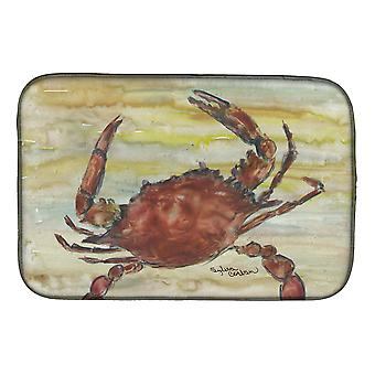 Carolines Treasures  SC2022DDM Cooked Crab Yellow Sky Dish Drying Mat