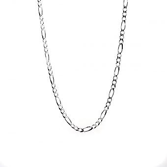Eternity Sterling Silver 24'' Figaro Chain