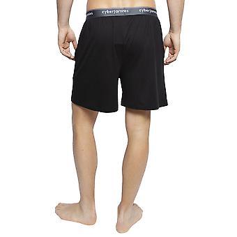 Cyberjammies 6396 Herren Isaac Black Cotton Pyjama Short