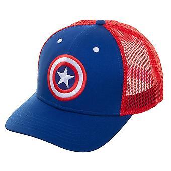Baseball Cap - Captain America - Trucker New Licensed tc6u41mvu