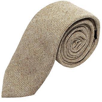 Highland Weave Stonewashed Light Brown Tie