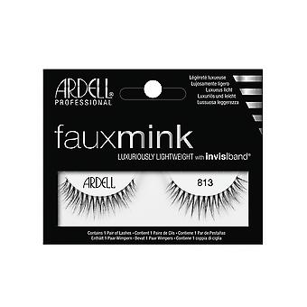 Ardell Faux Mink 813 Eye Lashes Lightweight Invisiband Full Lash Look