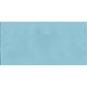 Baumwolle blau Schale/Dichtung DL + farbige blaue Umschläge. 120gsm Luxus FSC zertifiziertes Papier. 114 mm x 229 mm. Wallet-Stil-Umschlag.