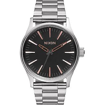 Nixon Sentry Quartz Analog Woman Watch with A4502064 Stainless Steel Bracelet