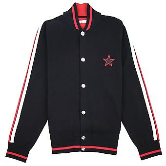 Givenchy Back Logo Star Bomber Jacket Black
