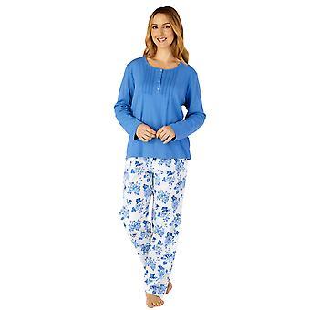 Slenderella PJ4204 Women's Woven Floral Cotton Pyjama Set