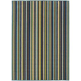 Caspian 1004x blue/brown indoor/outdoor rug rectangle 7'10