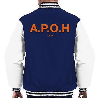 A.P.O.H Classic Orange Logo Men's Varsity Jacket