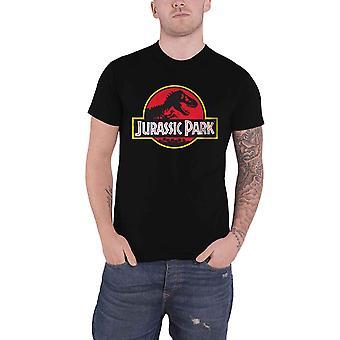 Jurassic Park T Shirt klassieke film Logo nieuwe officiële Mens zwart