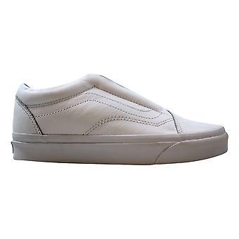 Vans Old Skool Laceless cuero blanco verdadero VN0A3DPCL3H Hombres's