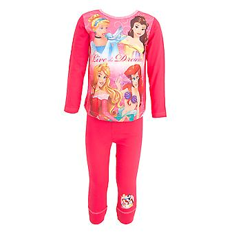 Disney Princess Childrens Girls Top & Bottoms Pyjama Set