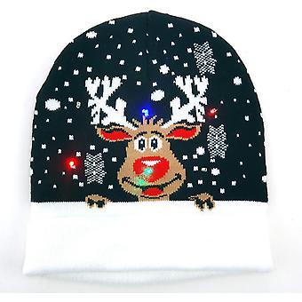 Cap Christmas LED-valaistus musta puhdas