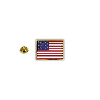 Pins Pin Badge Pin's Metal Broche Drapeau USA Etats Unis Americain 15 Etoiles