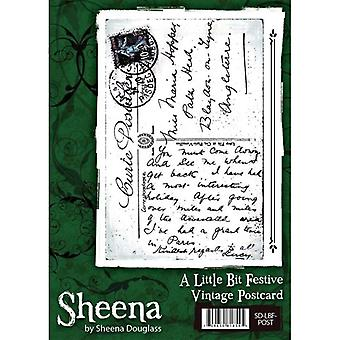 Sheena Douglass A Little Bit Festive Christmas A6 Rubber Stamp Set - Vintage Postcard