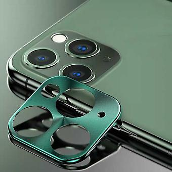 iPhone 11 Pro - 11 Pro Max Case Green Camera Lens Protector - Metal