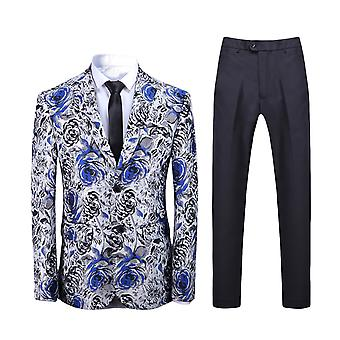 Alle Themen Men's 2-teilige Anzüge Slim Fit Dance Party Blazer & Pants